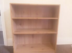 Wood effect bookcase