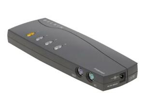 Belkin OmniView E Series 4-Port KVM Switch with Cables - F1DB104P2-B