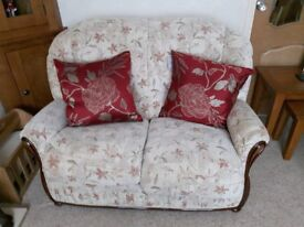 Immaculate three piece suite - two seater sofa and two chairs