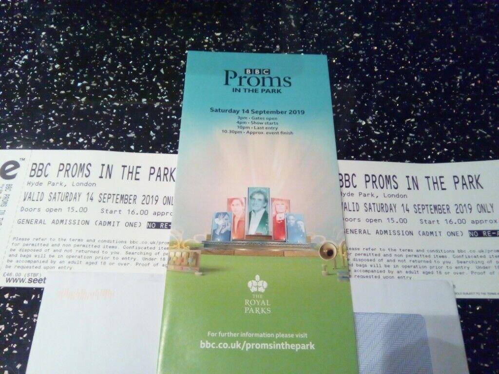 2 x Proms in the Park tickets | in Hyde Park, London | Gumtree