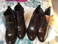 2 x deichmann boots size 6 worn once