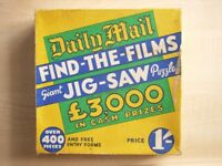 Jigsaw 1935 Daily Mail find the films competition puzzle. over four hundred pieces, boxed.