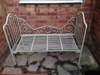 Vintage metal Day bed with foam mattress