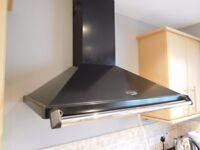Rangemaster 90 cm Chimney Cooker Hood - Black / Chrome