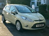 58 Ford Fiesta 5dr 1.4 Petrol Manual AC Alloy Wheels FSH Cream/straw cold