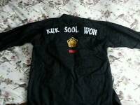 kuk sool won dobok with patches (jacket only)