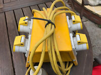110 Volt 4 way Splitter box and conecter plugs