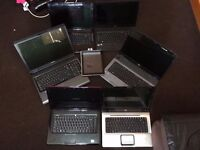 JOBLOT of 8 Laptops - 5 x Fully working - 4 x Spare or Repair - 1 x Apple ipad 4th Gen Spare/Repair