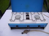 two burner camping stove and grill