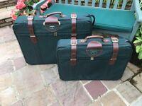 2 x Matching Antler Suitcases. 1 Large & 1 Medium