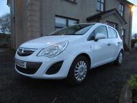 Late 2011 Vauxhall Corsa 1.3 CDTi, 5 door, white, diesel, facelift model, £30 Road Tax