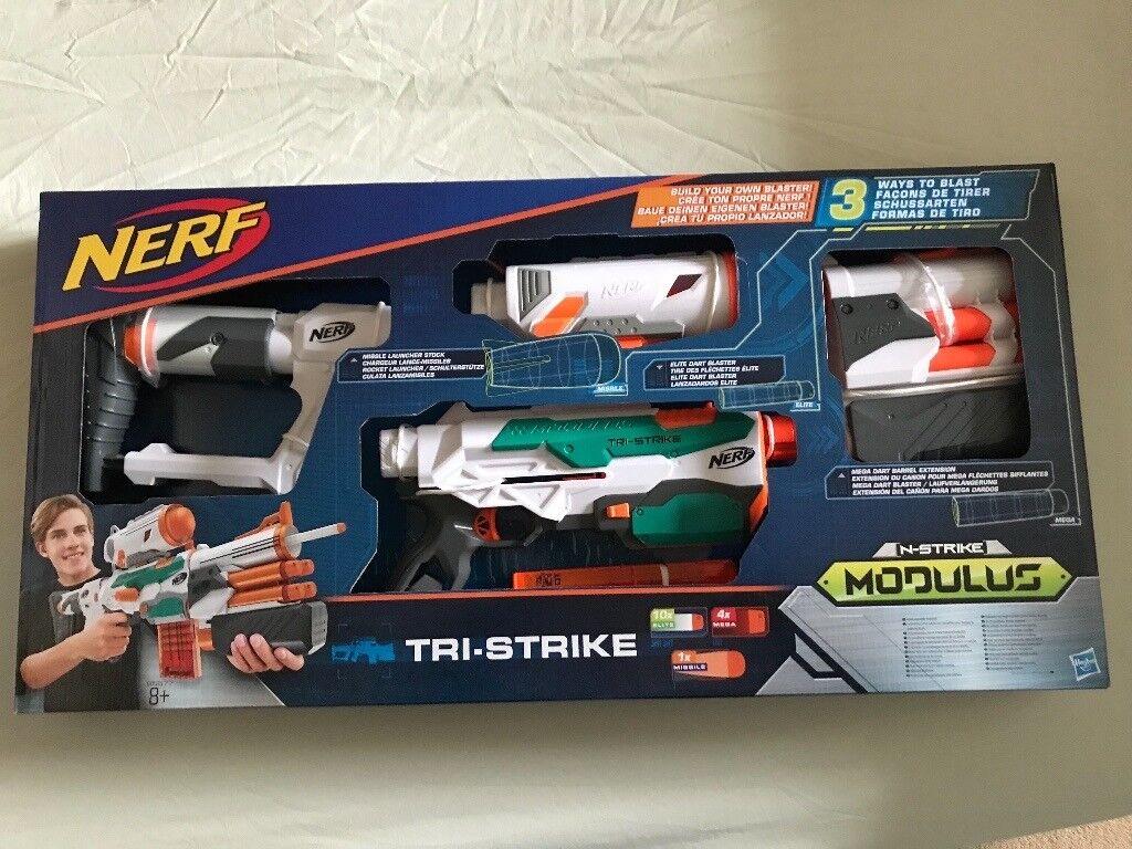 Nerf Gun Modulus Tri-Strike Blaster Toy - (NEW un-opened)