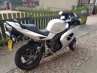 Triumph Sprint ST 1050 sports tourer with full triumph luggage