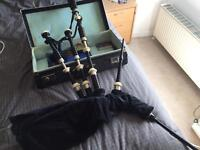 Bagpipes + Case and book for sale
