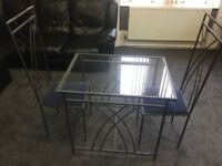16 seat Cafe Restaurant Bistro Glass top tables and chairs JOBLOT