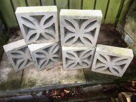 DECORATIVE CONCRETE WALL BLOCKS tradional leaf design