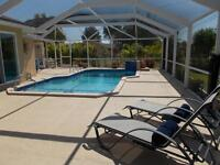 Looking for a winter getaway? Try our 3/3/pool Cape Coral, FL Wa