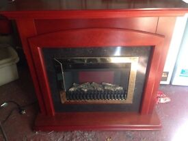 Electric Fire and Surround Plug in