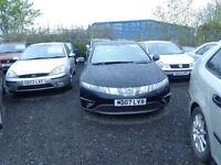 1 owner car 2007 07 reg honda civic se i,ctdi diesel 2.2 mot good we car £1995