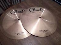"Pair of Pearl 14"" Hi Hat Cymbals CX300"