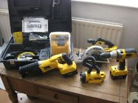 NEW DeWALT CORDLESS COMBO POWER TOOL KIT - DRILL and SAWS ETC. UNUSED