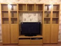 Living room beech display cabinet / TV unit.