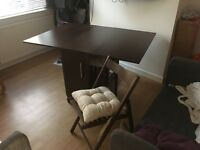 Drop-leaf Table with Four Chairs