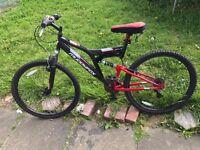 NEW Muddyfox Mens Recoil26 Mountain Bike Dual Suspension Cycling Bicycle