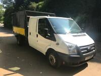 13 Ford transit T350 100BHP double cab tipper
