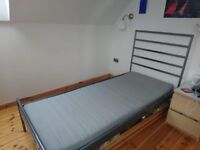 2 x metal ikea single bed frames
