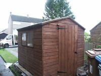 New garden sheds in 14mm and 16mm weatherboard