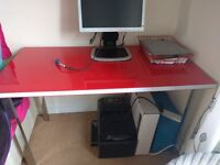 Ikea desk and HP monitor for sale, can be sold separately