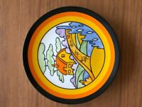 """CLARICE CLIFF Wedgwood Plate """"ORANGE ROOF COTTAGE"""""""