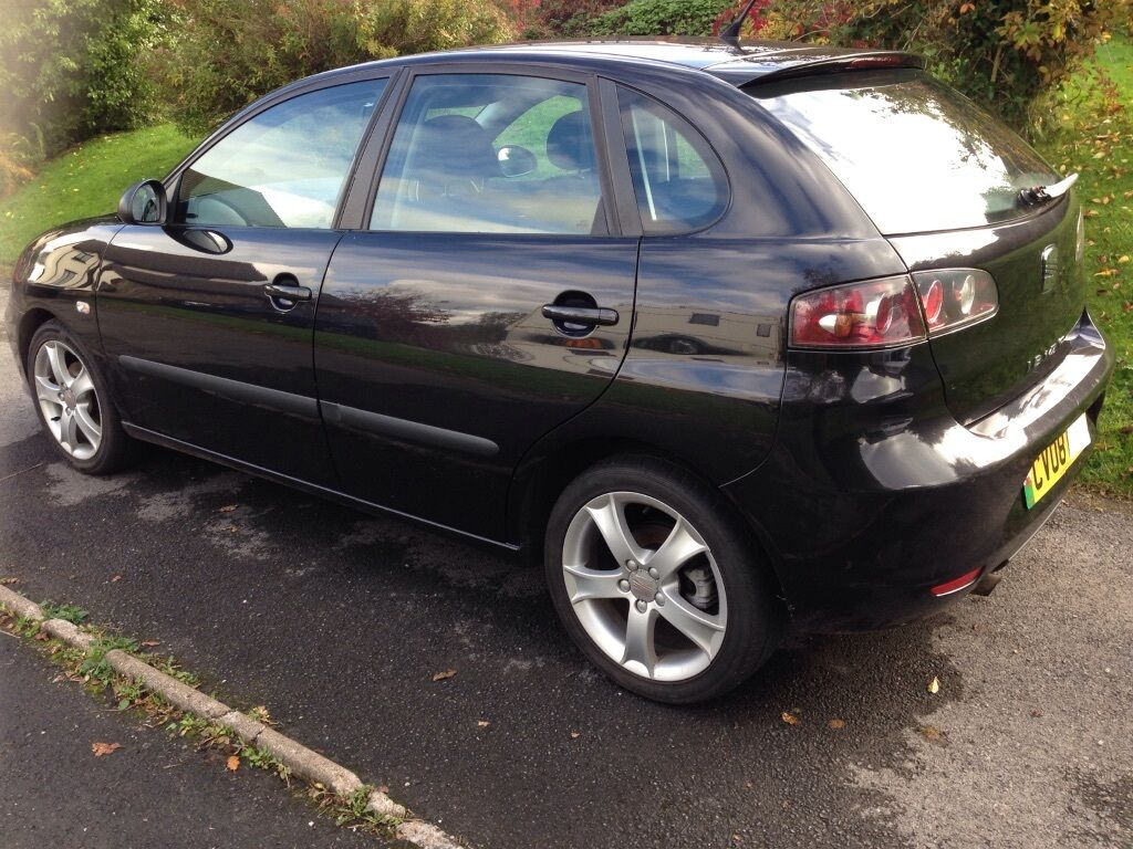 reduced seat ibiza sport 1 4 2008 77k black 2500 in pembroke pembrokeshire gumtree. Black Bedroom Furniture Sets. Home Design Ideas