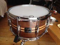 Gretsch Full Range Walnut Snare Drum w/ Maple Inlay 7x13
