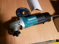 Makita 9654pcv angle grinder with paddle switch.