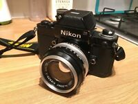 Nikon F2 35mm film camera with 50mm prime lens