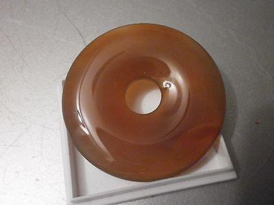 Edelstein - Donut 4 cm 40 mm  Anhänger Karneol