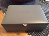 Genuine Pandora Leather 2 Tier Jewellery Box.