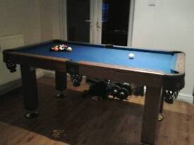 American Style Pool Table blue