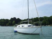 Kingfisher 22ft Sailing Cruiser, Bermudian Sloop Rig, Twin Keels, 8hp Outboard Motor, 4 Berths