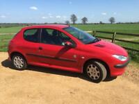 PART EX TO CLEAR - CHEAP 2004 PEUGEOT 206 INDEPENDENCE -MANUAL 1.1 PETROL - SERVICE HISTORY/LONG MOT