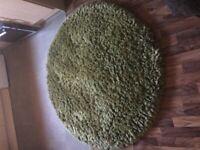 Plain slumber shaggy pile rug