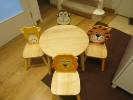 Children's table and chairs (John Crane)