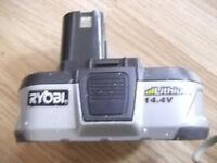 Genuine 14.4 V 1.4 Ah Ryobi battery