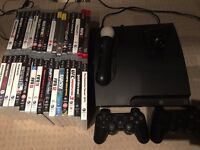 Playstation 3 - 30 games, 2 wireless controllers and PS move camera and controller