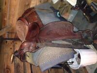 Tex tan trail saddle