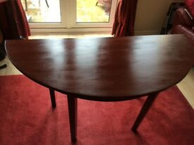 Gorgeous wooden table, semi-circle, vintage