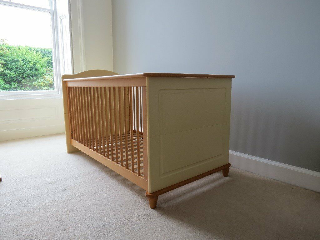Nursery/Childrens furniture setwardrobe, changing unit, cot/starter bedin Trinity, EdinburghGumtree - Nursery/Childrens furniture. Excellent condition solid wood furniture comprising wardrobe with hanging, cupboard and drawer storage changing unit with 3 drawers and cupboard storage cot/bed The cot base can be set at varying heights. The cot converts...