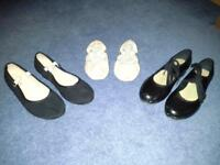 Bloch ballet, character and tap shoes